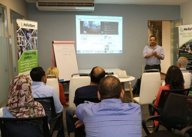 Presentation for event hosted in myCOoffice event space