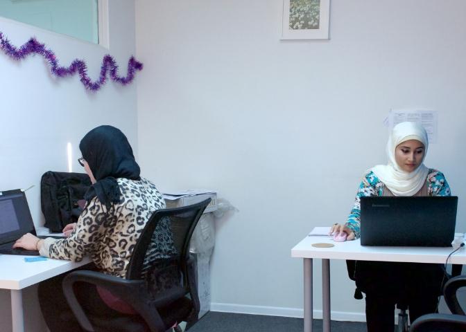 myCOoffice members working their team office