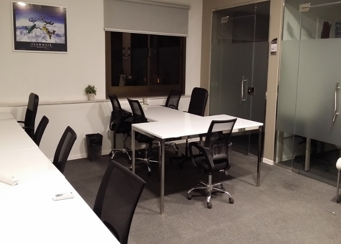 Chairs and tables in myCOoffice coworking and shared office space